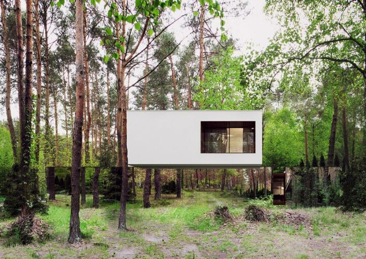 Reforma architekt Marcin Tomaszewski refelctive espelho casa Izabelin 2 01