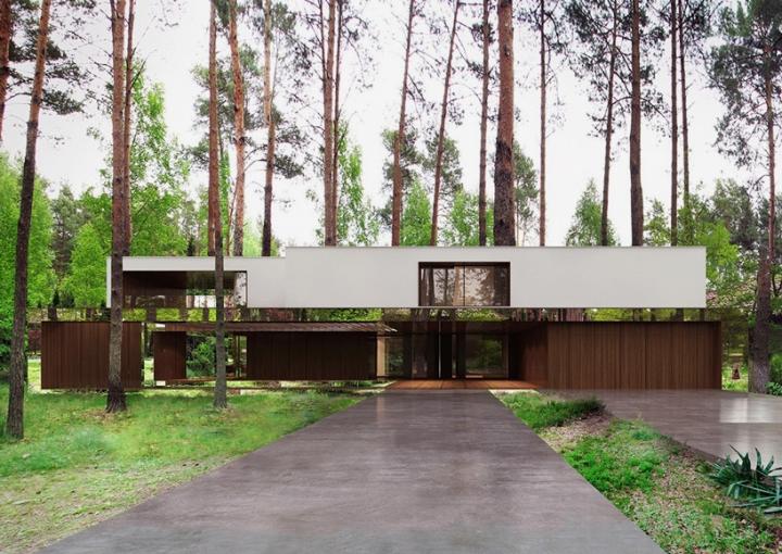 Reforma architekt Marcin Tomaszewski espejo refelctive casa Izabelin 2 02