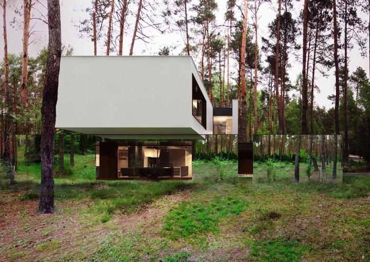 Reforma architekt Marcin Tomaszewski espejo refelctive casa Izabelin 2 05