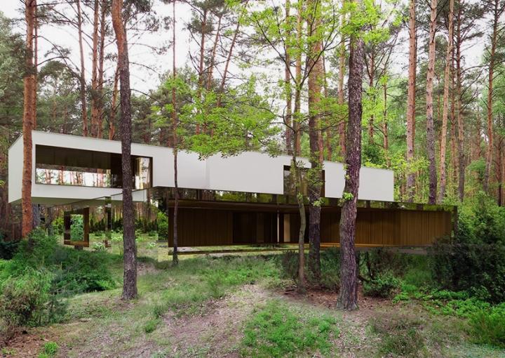 Reforma architekt Marcin Tomaszewski espejo refelctive casa Izabelin 2 06