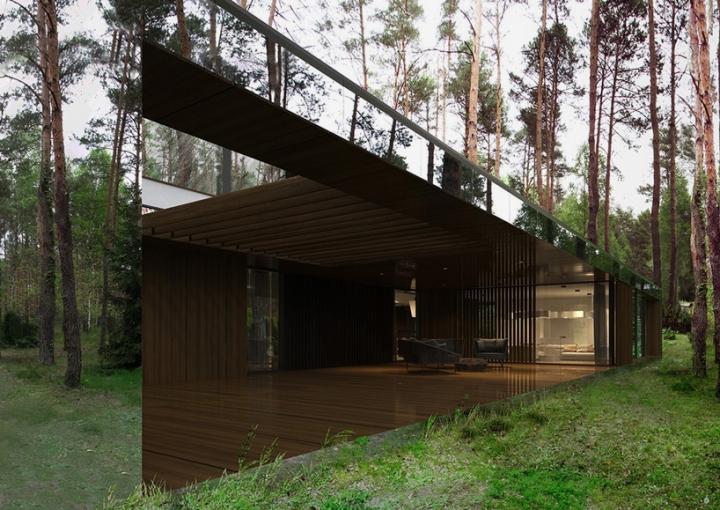 Reforma architekt Marcin Tomaszewski espejo refelctive casa Izabelin 2 07
