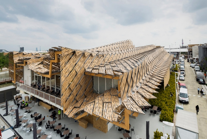 china expo pavilion milan 2015 Tsinghua University study links arc X8