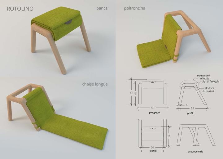 Progetto ROTOLINO 1 social design magazine