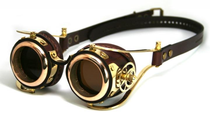 óculos de proteção do steampunk