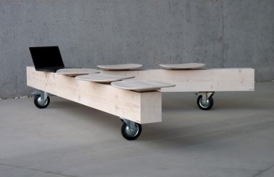 Bedont bench in solid wood Timber, design Diego Chilò