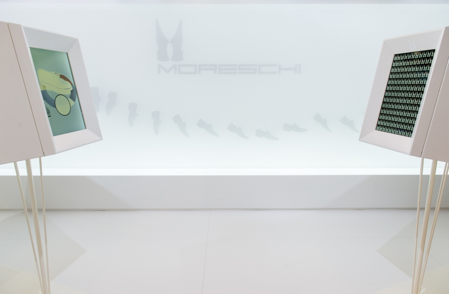 exhibition space Moreschi, Pitti immgine Man 2015, project Migliore + Servetto Architects