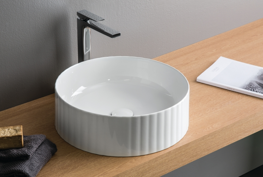 THE.ARTCERAM lavabo acanalado