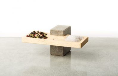 porte Appetizer en bois et pierre