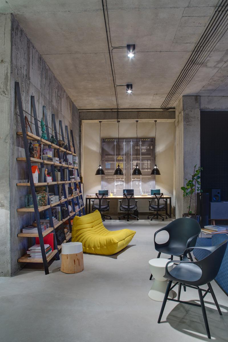 A loft office