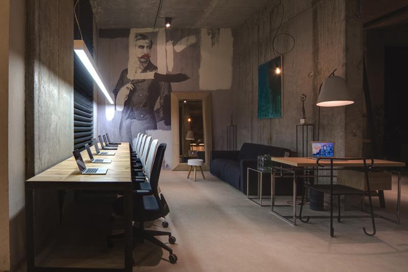 Una oficina de loft