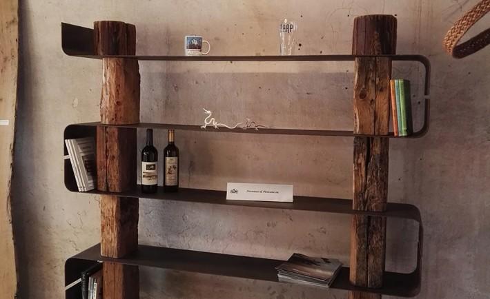 wood creations due librerie in legno naturale social. Black Bedroom Furniture Sets. Home Design Ideas