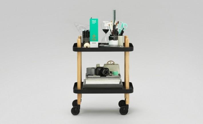 Tavolino con rotelle Block by Normann Copenhagen
