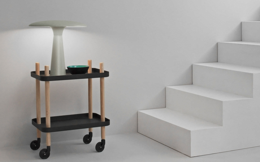 Tavolino con rotelle Block by Normann Copenhagen