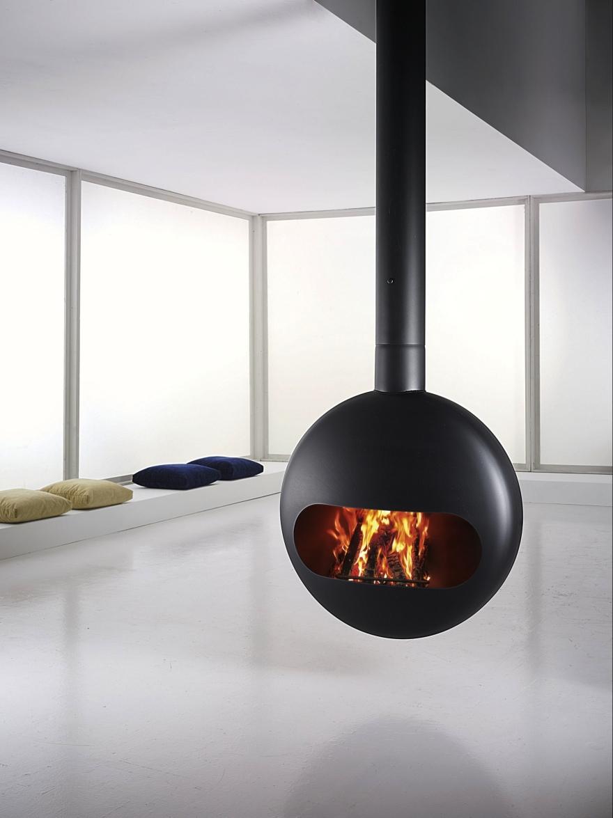 Caminetti a bioetanolo o legna Antrax, modello Bubble