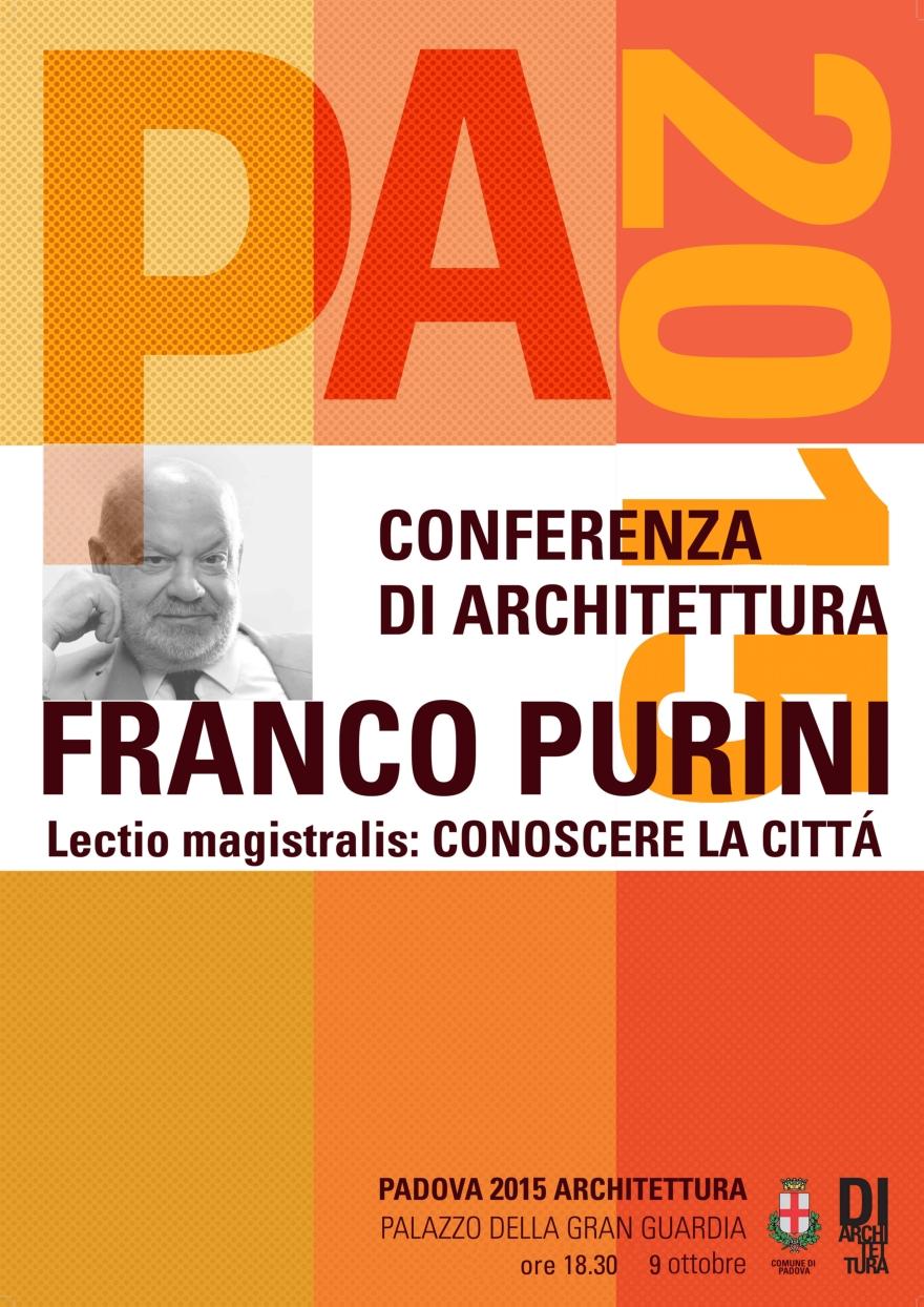Conoscere la città: lectio magistralis dell'architetto Franco Purini a Padova