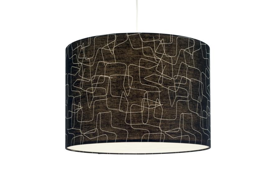 Linon luminária pendente por Thonet cantilever versão preta