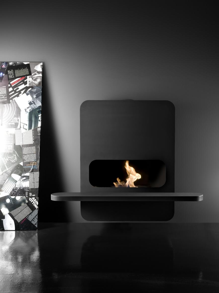 Bioethanol fireplaces or wood Antrax, model B Wall bioethanol