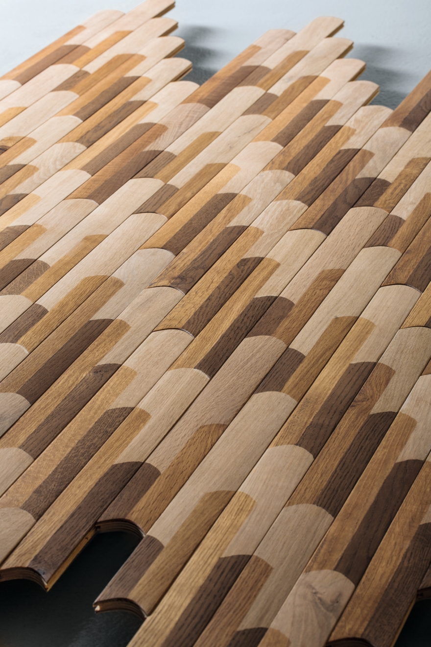 堅木張りの床Listoneジョルダーノビスケットn6対角線
