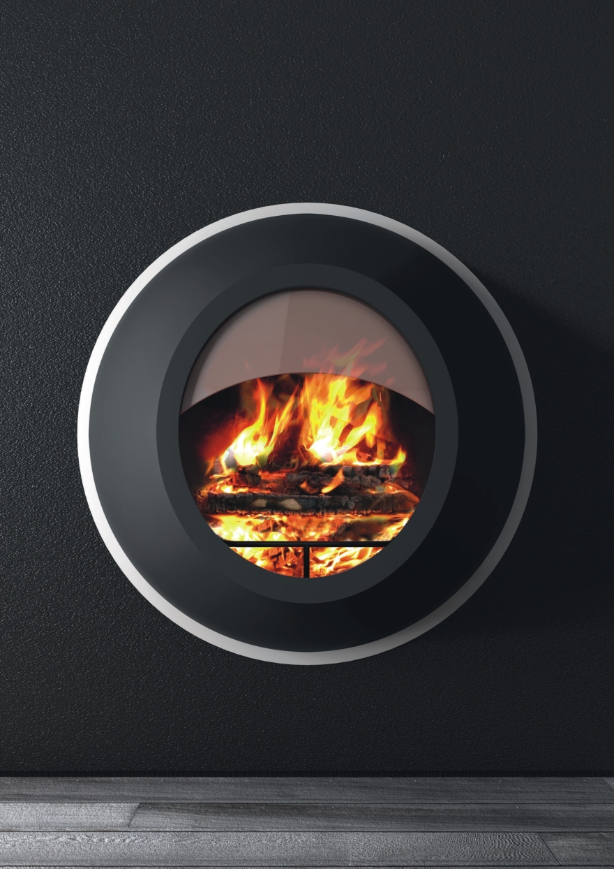 Bioethanol fireplaces or wood Antrax model Maunakea
