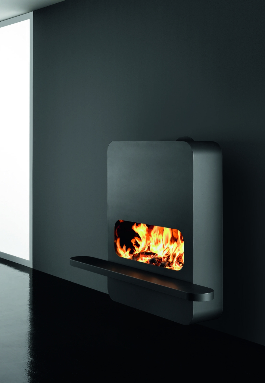 Bioethanol fireplaces or wood Antrax, model B Wall