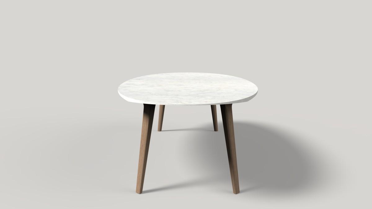 Collezione Ademar i tavoli di Giulio Iacchetti per Bross 19