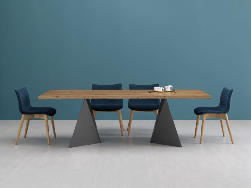 Domitalia tavolo Euclide e seduta Fenice effetto 3D 01