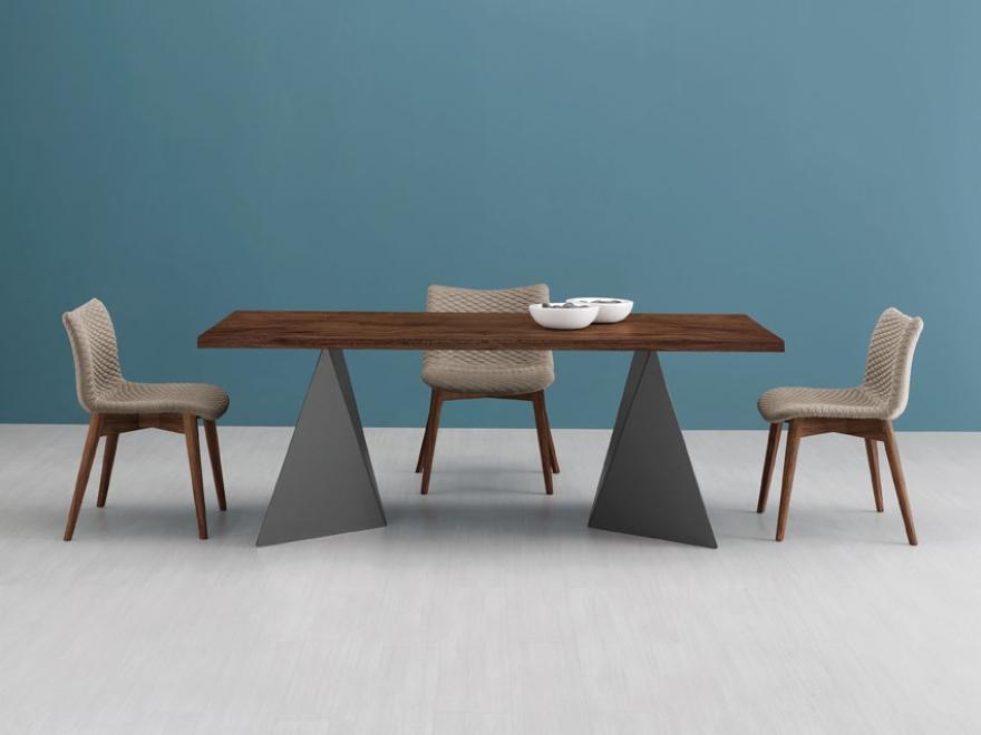 Domitalia tavolo Euclide e seduta Fenice effetto 3D 02