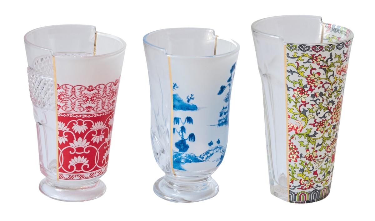 Idee regalo Natale 2015, bicchieri Clarice, collezione Hybrid di Seletti