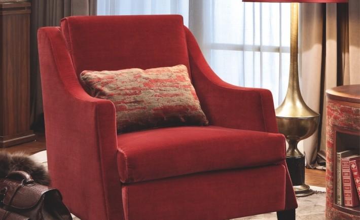 Casa natalizia, poltrona Lisa ambientata Smania Home Couture