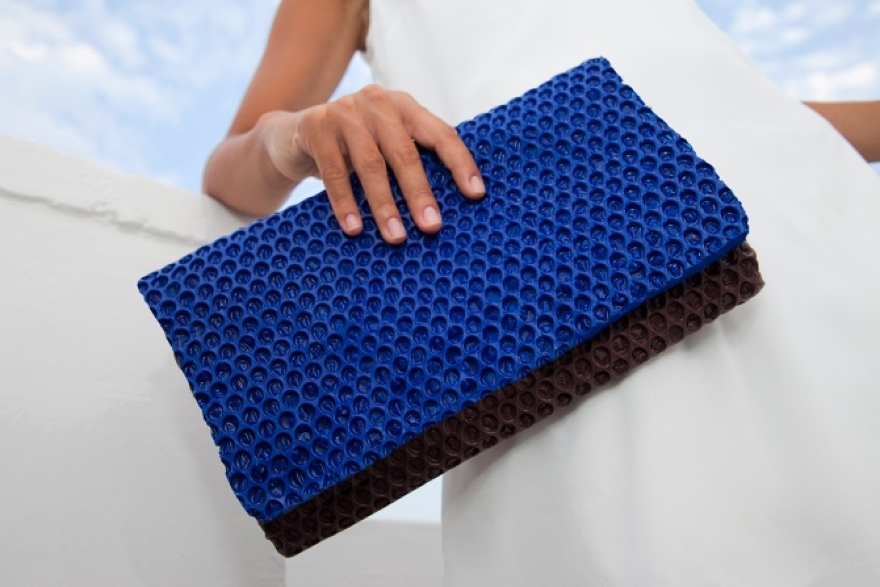 Wrap bag clutch polyurethane design Matteo Pellegrino 06