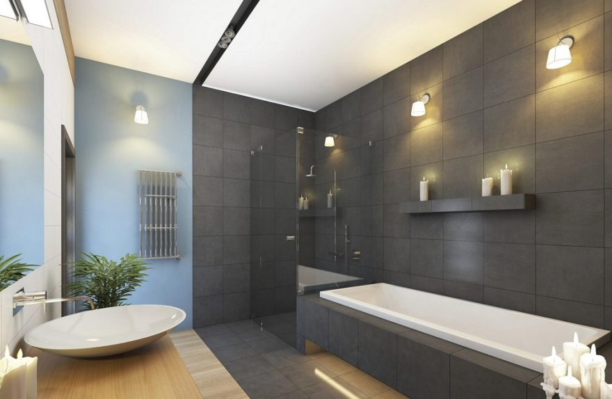 Idee bagno bianco e grigio come scegliere il colore delle pareti