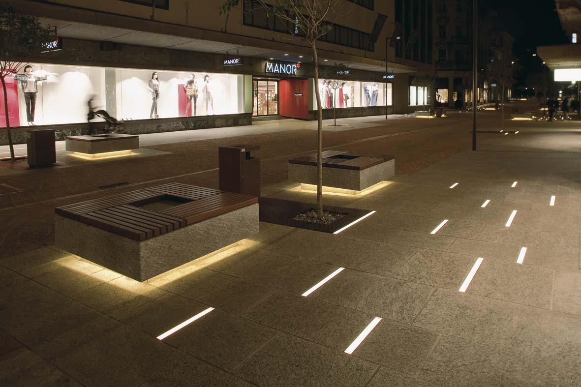 Illuminazione pubblica a LED per Bellinzona lighting design Stefano Dall'Osso 01