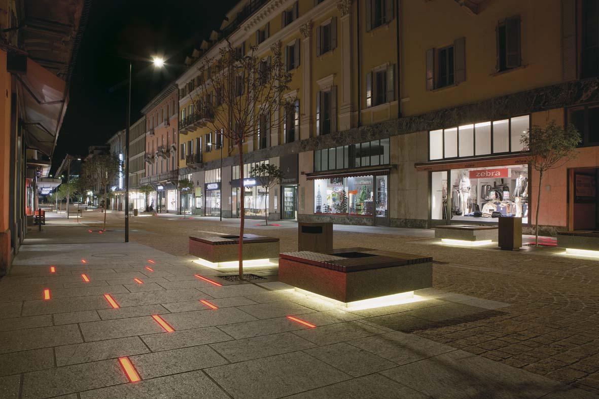 Lighting LED lighting design for Bellinzona Stefano Dall'Osso 02