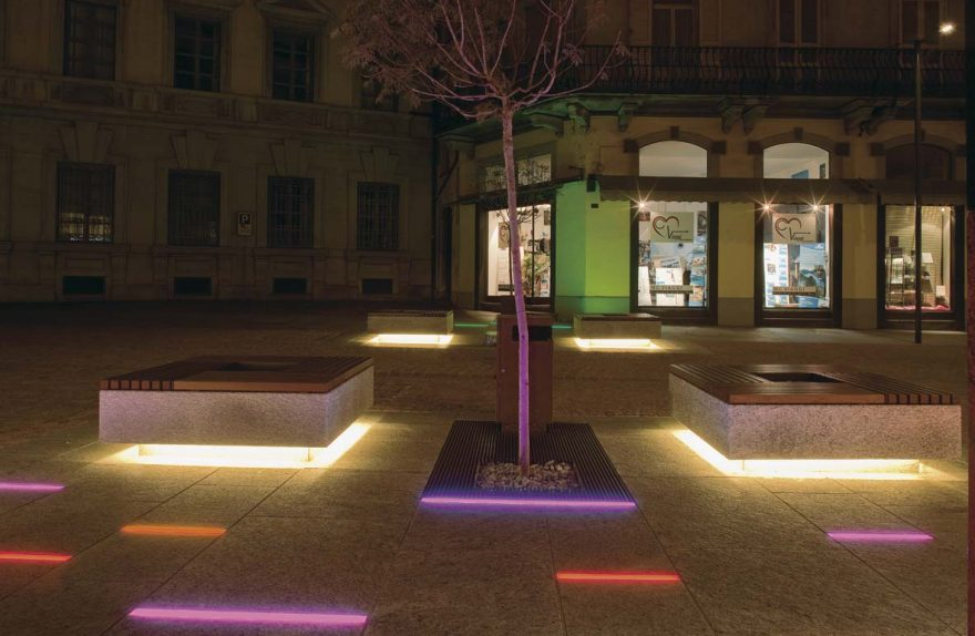 LED public lighting for Bellinzona lighting design Stefano Dall'Osso