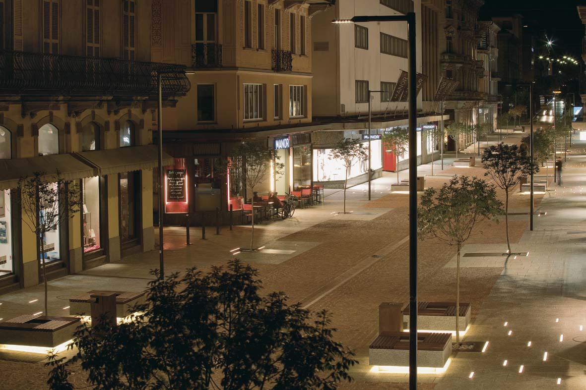 Illuminazione pubblica a LED per Bellinzona lighting design Stefano Dall'Osso 04