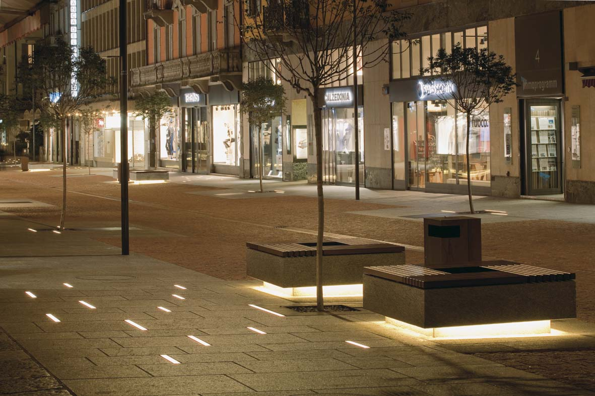 Illuminazione pubblica a LED per Bellinzona lighting design Stefano Dall'Osso 05