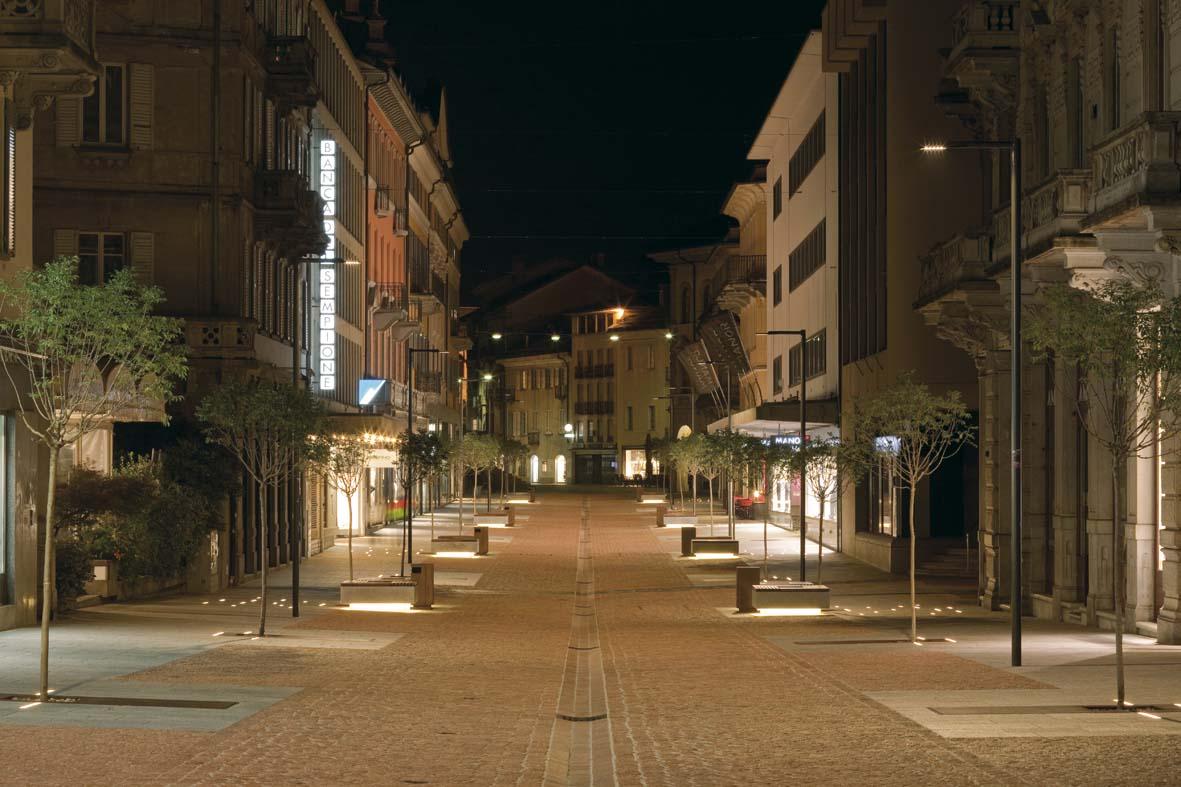 Illuminazione pubblica a LED per Bellinzona lighting design Stefano Dall'Osso 06