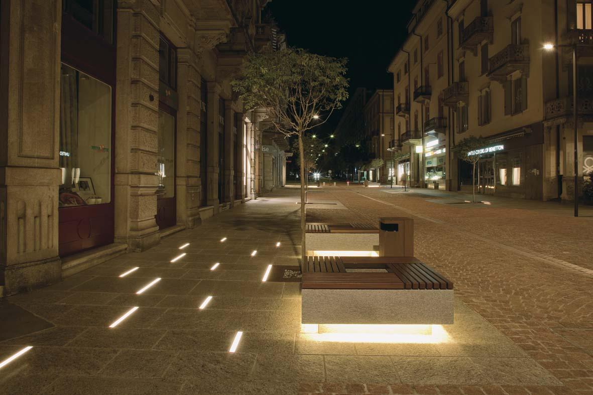 Illuminazione pubblica a LED per Bellinzona lighting design Stefano Dall'Osso 07