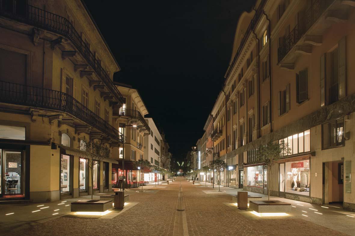 Illuminazione pubblica a LED per Bellinzona lighting design Stefano Dall'Osso 08