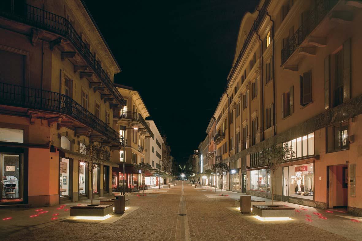 Illuminazione pubblica a LED per Bellinzona lighting design Stefano Dall'Osso 09