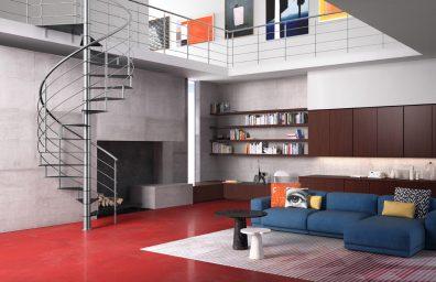 escadas internas no catálogo Fontanot 2016, modelo Lastra