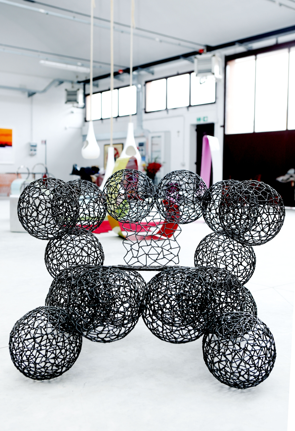 TID space, armchair What balls, Anacleto Spazzapan