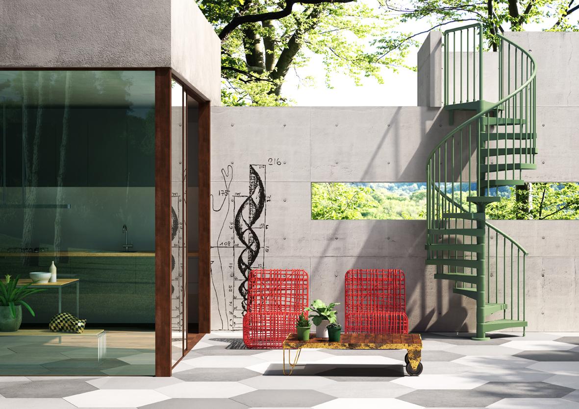 escaleras exteriores catlogo fontanot modelo techne