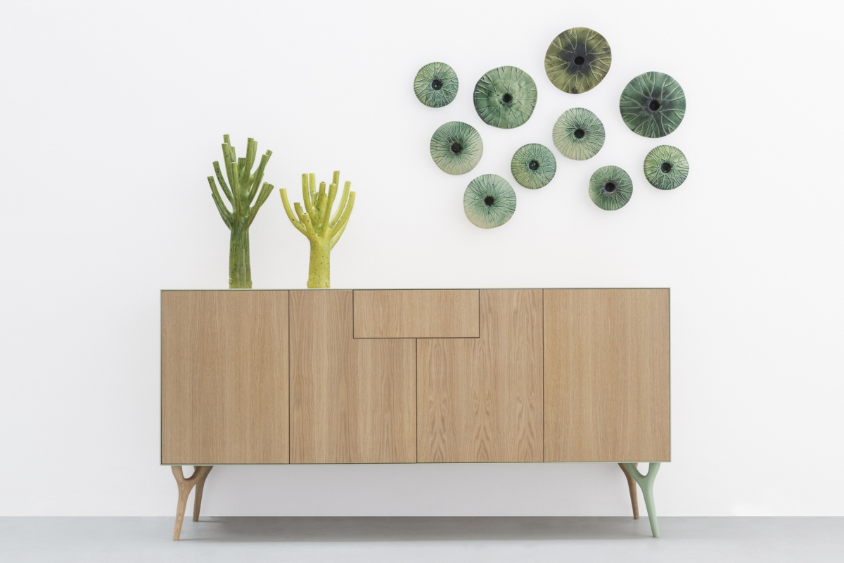 "Vegetable collection design Vito Nesta per Cadriano, Madia orizzontale ""PETRA"""
