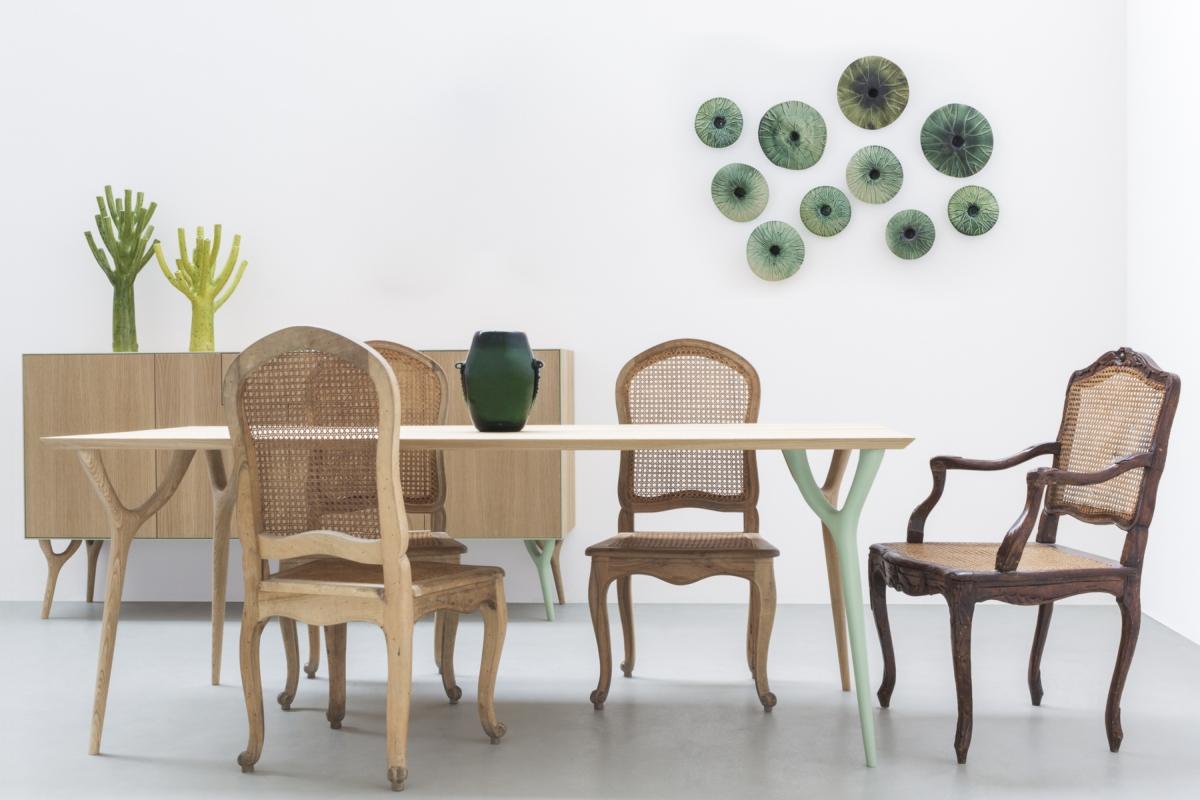 """Vegetable collection design Vito Nesta for Cadriano, the """"VERITAS"""" rectangular table"""
