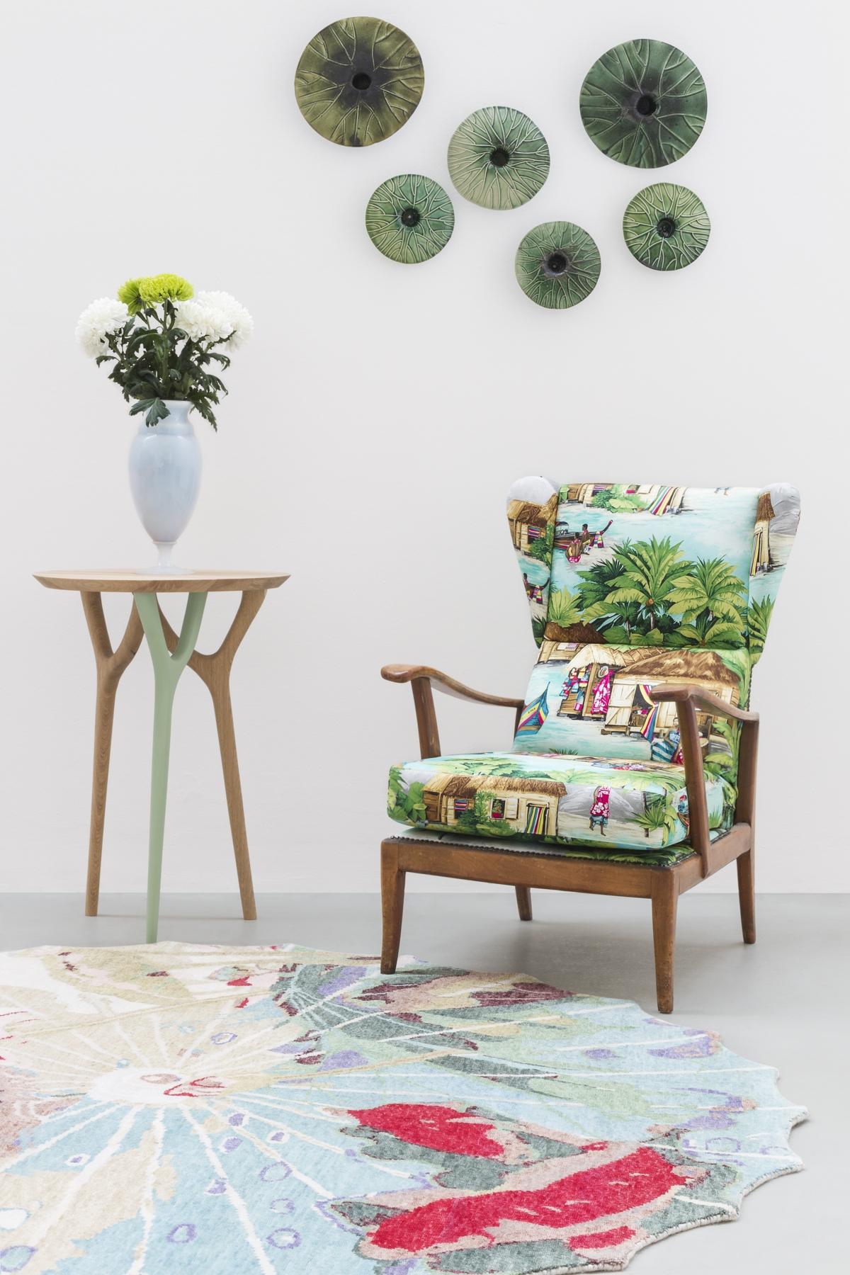 """Vegetable collection design Vito Nesta Cadriano, small coffee table """"ACORN"""""""