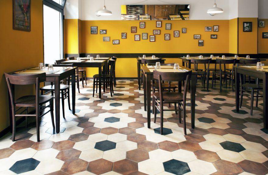 ristorante Trippa di Milano, trattoria old school interior design vintage