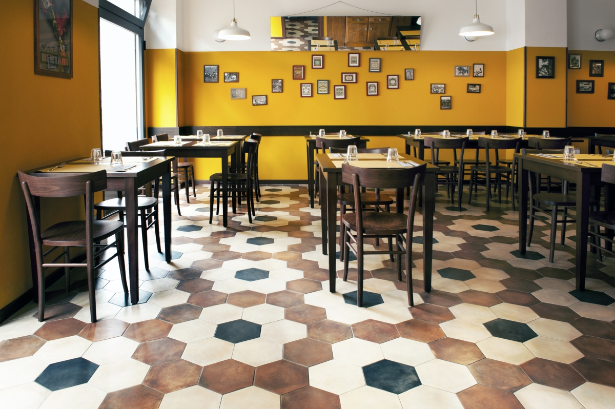 Tripe restaurant in Milan, old school restaurant interior design vintage 14