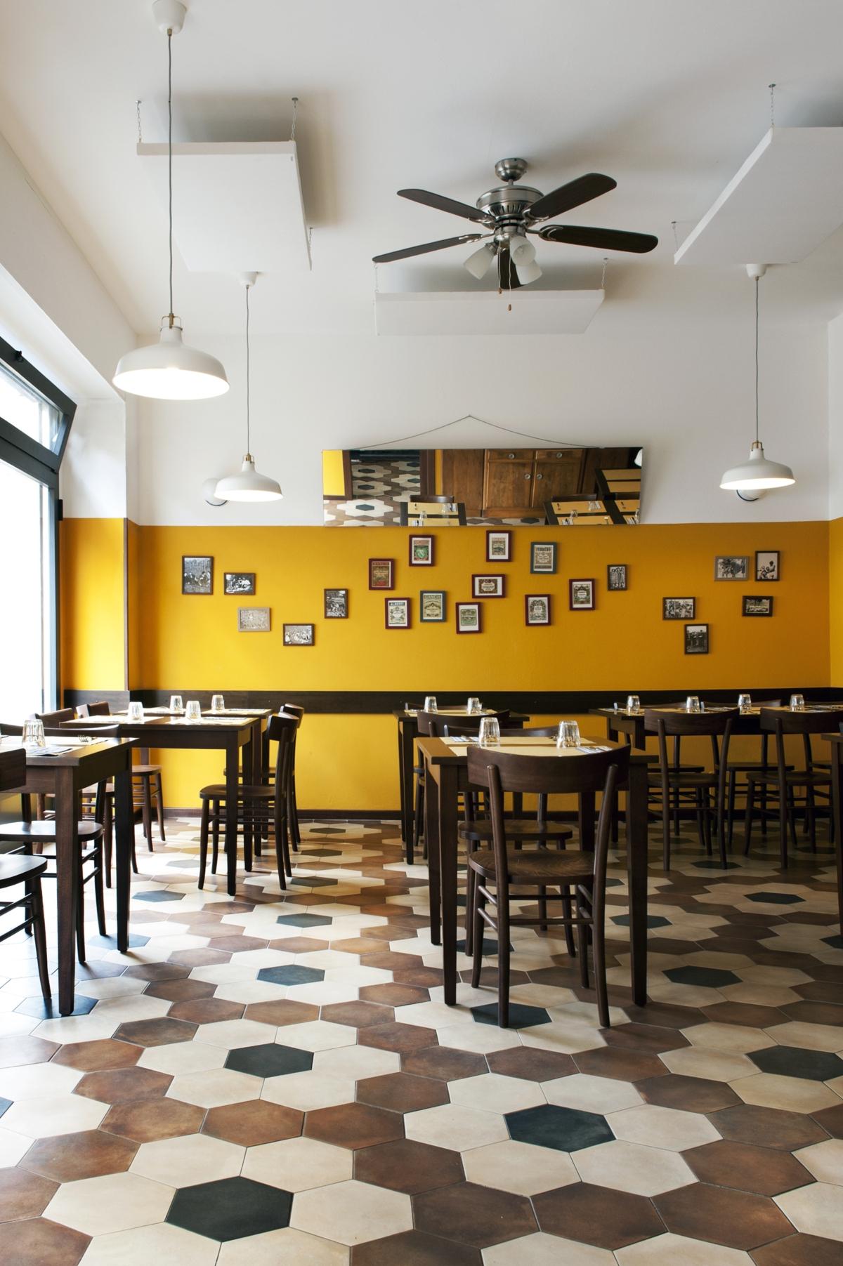 ristorante Trippa di Milano, trattoria old school interior design vintage 16
