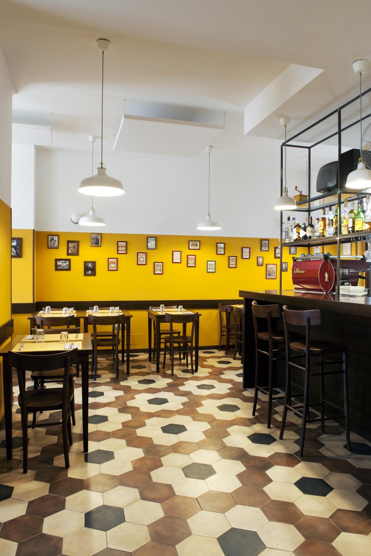 ristorante Trippa di Milano, trattoria old school interior design vintage 18